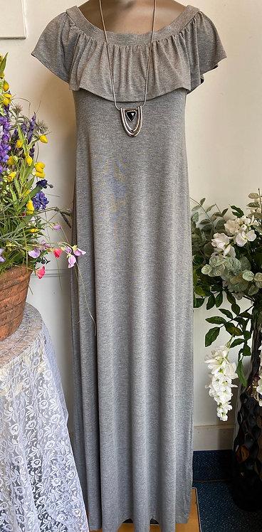 Kenar Gray Maxi Dress - Size S