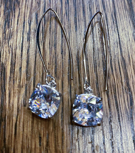 Dangle Faux Diamond Earrings