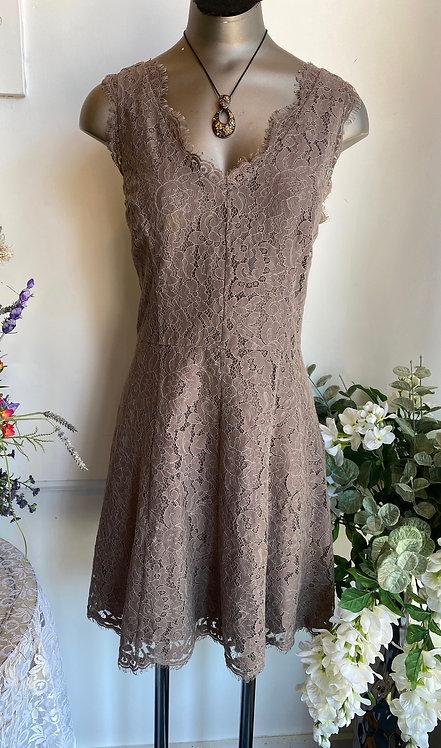 Joie Brown Floral Lace Dress - Size S