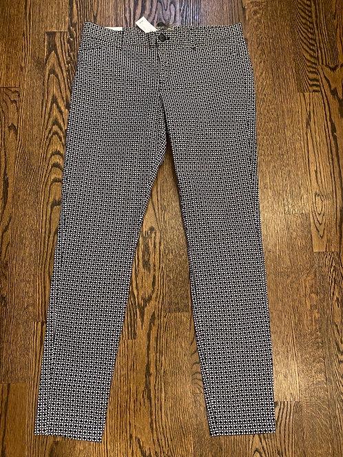 Gap Black/White Print Pants - Size 6R