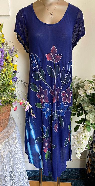 Advanced Apparel Flower Print Dress - Size L/XL