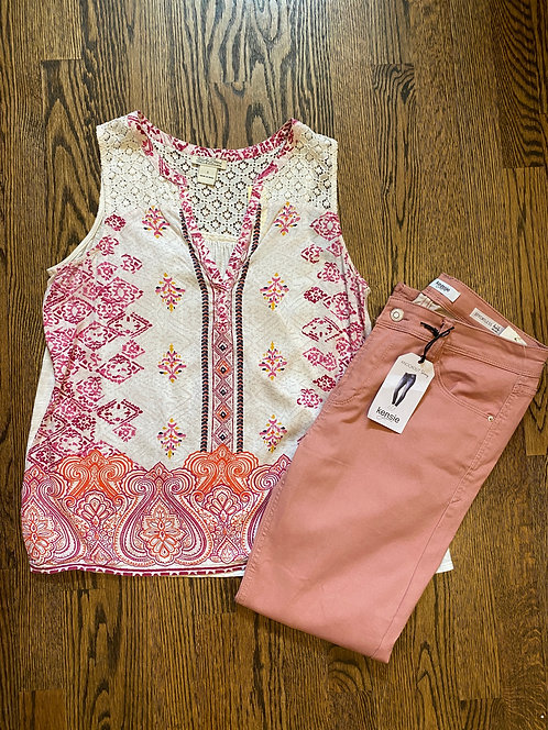 Lucky Tank - Size S, Kenzie Pink Jeans - Size 8/29