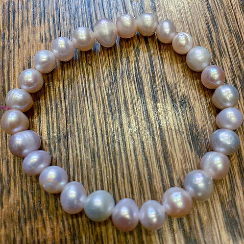 Pink Freshwater Pearl Stretch Bracelet