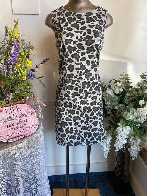 Vince Camuto Grey Animal Print Tank Dress - Size 8