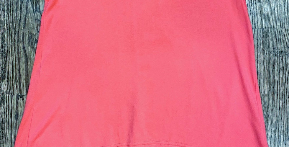 NWT New Angie Hi/Lo Coral Tee - Size S