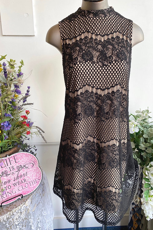 Fire Lace Overlay Dress - Size L