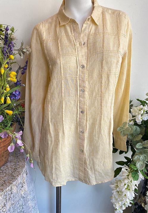 J Jill Yellow Linen Shirt - Size M