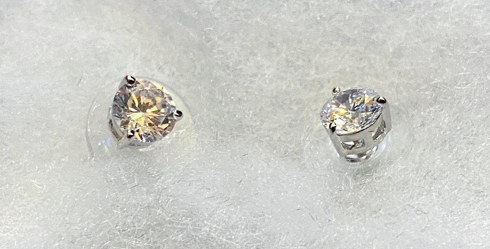 Faux Diamond Post Earrings