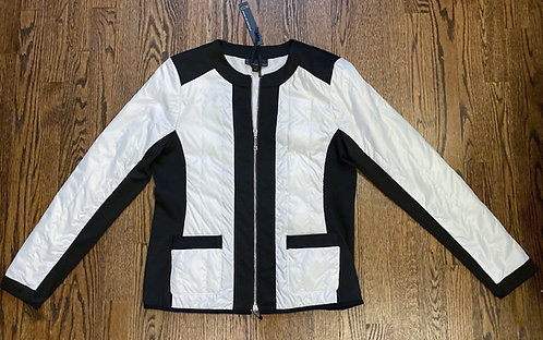 NWT Buffalo White & Black Zip Jacket - Size M