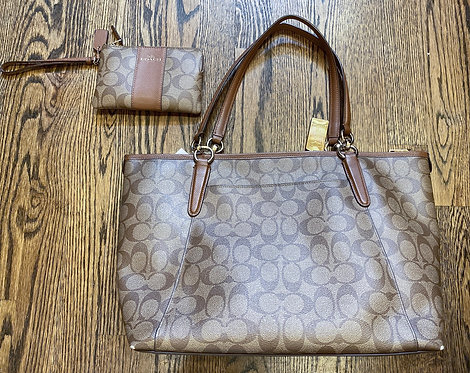 Coach Matching Tote and Wristlet