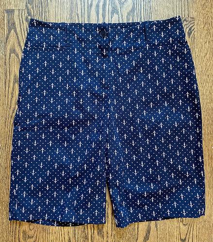 Talbot's Anchor Print Shorts - Size 8
