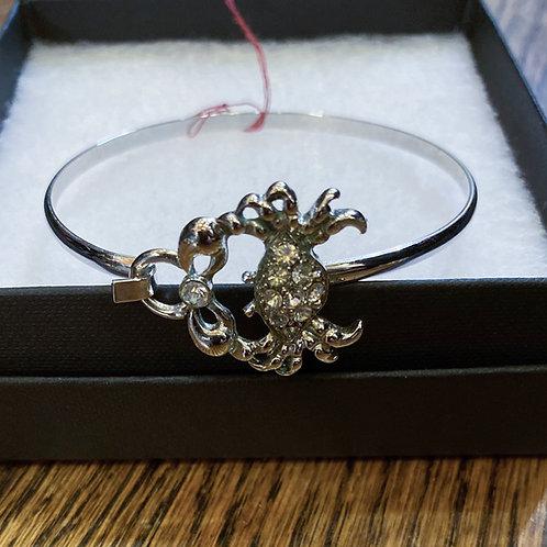 Rhinestone Crab Bracelet
