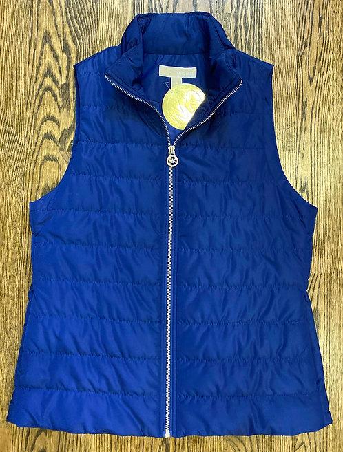 NWT MK Royal Blue Zip Vest - Size S