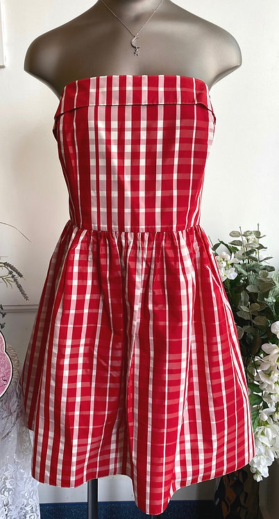 SALE Vineyard Vines Strapless Check Print Dress - Size 12