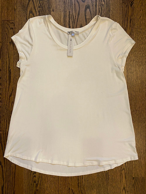 NWT Down East Collection Ivory Tee - Size L