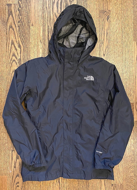 Girl's North Face Black w/ fleece zip out lining - Size Y14/16