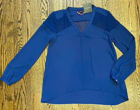 NWT Cynthia Rowley Royal Blue v-neck Blouse - Size M