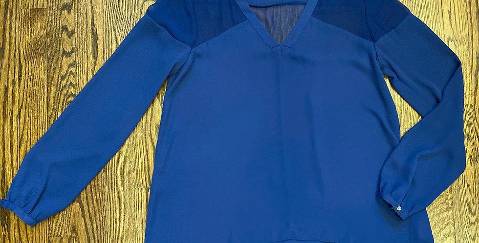 NWT Cynthia Rowley Royal Blue v-neck Blouse - Size M