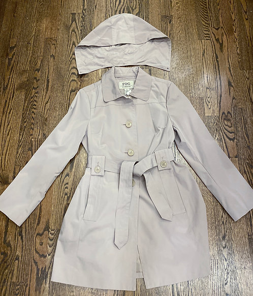 London Fog Rain Coat w/ removable Hood - Size S
