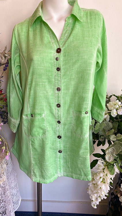 Parsley & Sage Mint Green Top/Cover Up - Size L