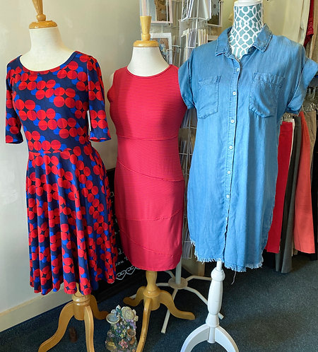LuLaRoe & Body Fit Dresses (Denim dress-Sold)