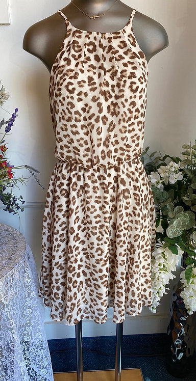 Francesca's Leopard Tank Dress - Size M