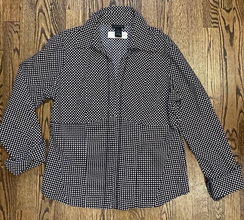 Limited Polka Dot Dress Shirt Clasp Closure - Size XL