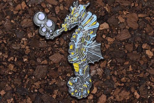Raf Mata Seahorse Antique Silver le75 Pin