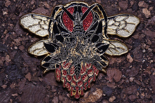 "Chris Surposa ""Beeswax"" Black and Gold with red glitter le 25 Pin"