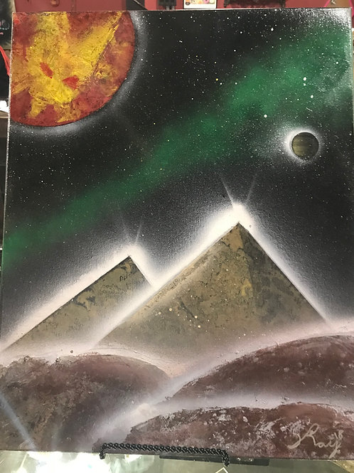 Galaxy Art- Pyramids