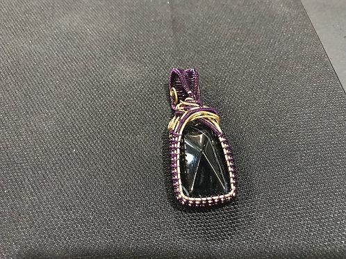 Black Lace Agate Pendant