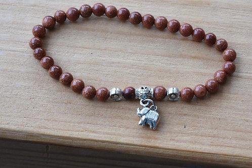 GoldStone Elephant bracelet