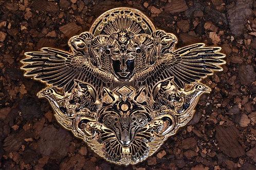 Mugwort Dryad Gold Pin