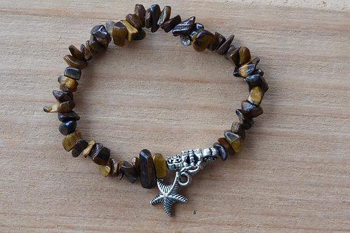 Tigers Eye Sea shell Bracelet
