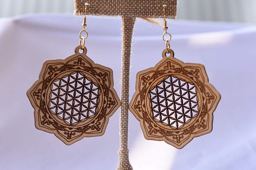 Lotus Flower of life Earrings