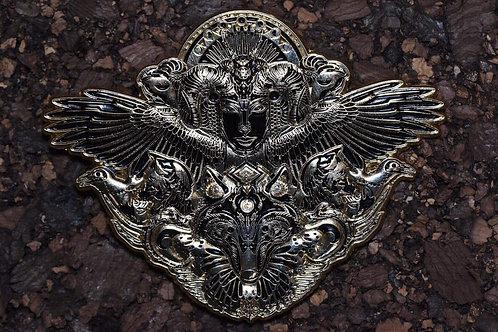 Mugwort Dryad Silver Pin