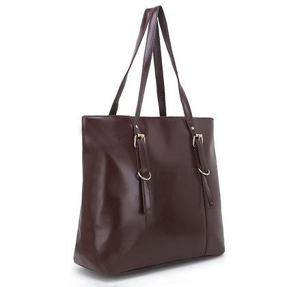 Brown Formal Tote Bag