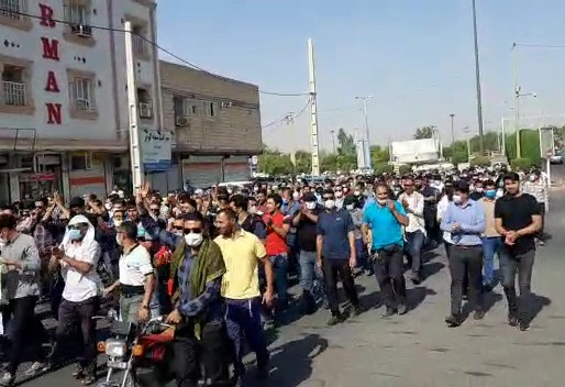 Workers of Haft Tappeh took to streets, chanting anti-regime slogans