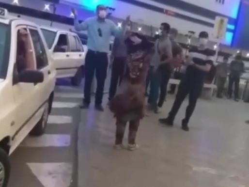 Arrest of a protesting citizen in Bandar Abbas