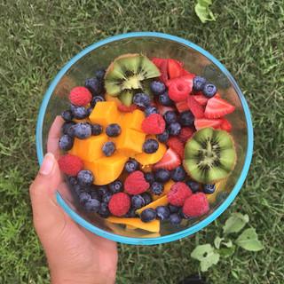 Morning fruit bowls!