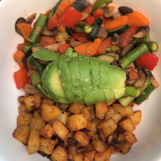 Potato & veggie bowl.