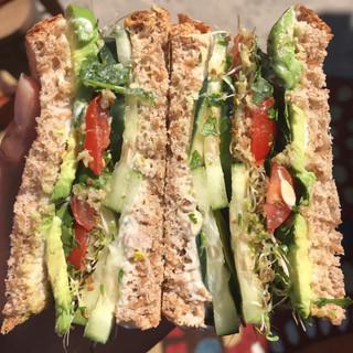 Veggie sandwiches!