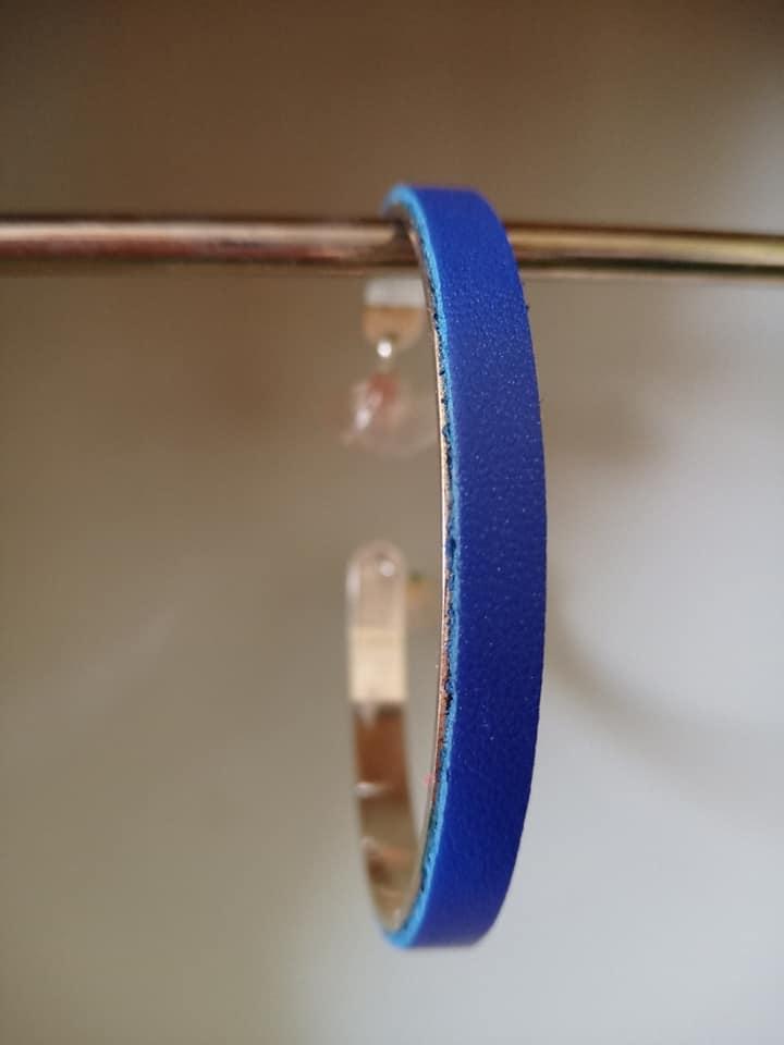 Jonc fin bleu