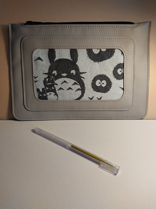 Pochette de sac cuir et Totoro