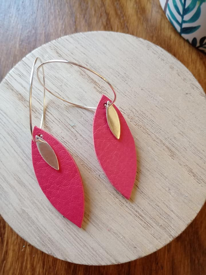 boucles rose corail