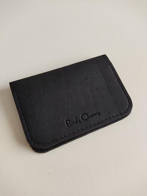 Porte cartes liège noir