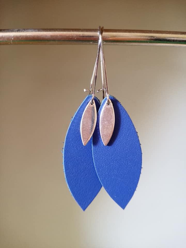 Boucles d'oreilles Lili bleu