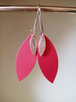 Boucles d'oreilles Lili rouge
