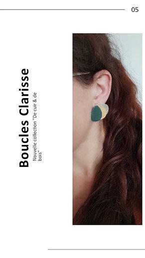 Boucles d'oreilles puces Clarisse