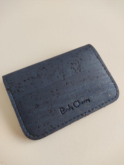 Porte cartes et monnaie liège noir
